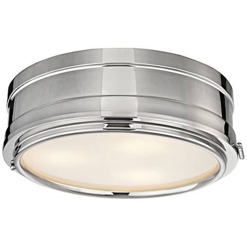 "Hudson Valley Rye 14"" Wide Polished Nickel Ceiling Light"