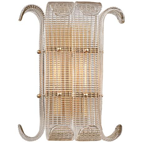 "Brasher 15 3/4"" High Aged Brass 2-Light Wall Sconce"