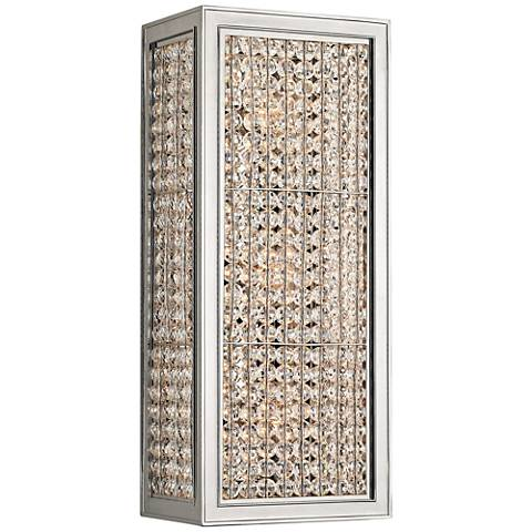 """Hudson Valley Norwood 14"""" High Polished Nickel Wall Sconce"""