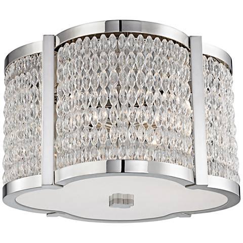 "Hudson Valley Ballston 16""W Polished Nickel Ceiling Light"