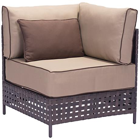 Zuo Pinery Brown and Beige Outdoor Corner Chair
