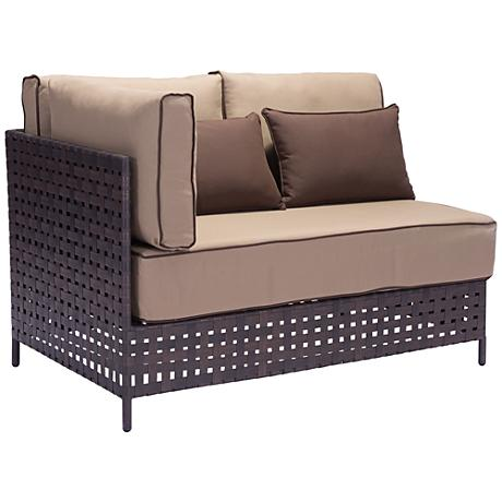 Zuo Pinery Brown Outdoor Left Hand Facing Corner Chaise