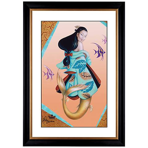 "Ningyo Princess Giclee 41 3/8"" High Wall Art"