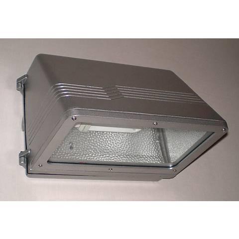 "Satin Nickel Energy Efficient 9"" High Outdoor Wall Light"
