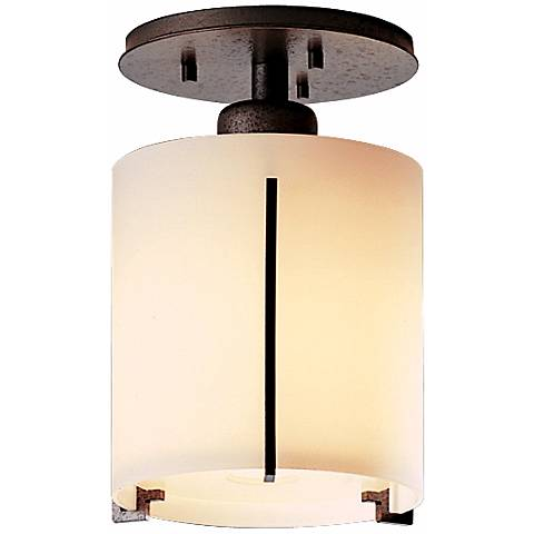 """Exos Round Natural Iron 6"""" Wide Ceiling Light Fixture"""