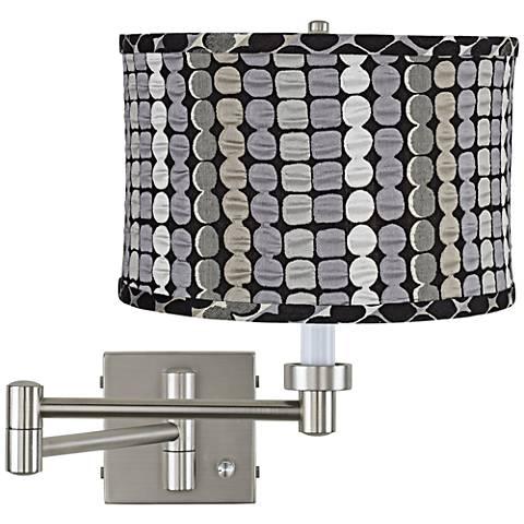 Klose Gray Drum Brushed Steel Plug-In Swing Arm