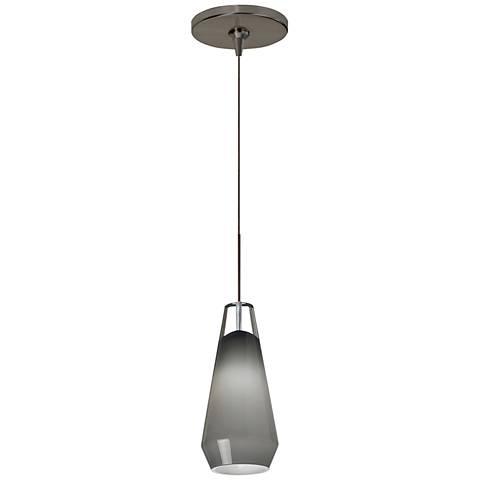 "Tech Lighting Lustra 3 3/4""W Crystal Bronze Mini Pendant"