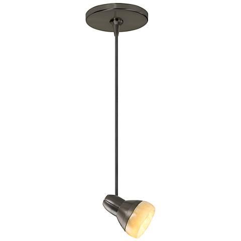 "Tech Lighting Mini Om 3 1/4"" Wide Bronze Mini Pendant"