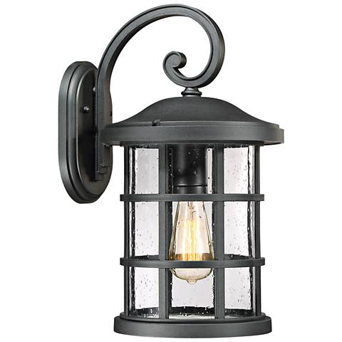 "Quoizel Crusade 17 3/4"" High Earth Black Outdoor Wall Light"