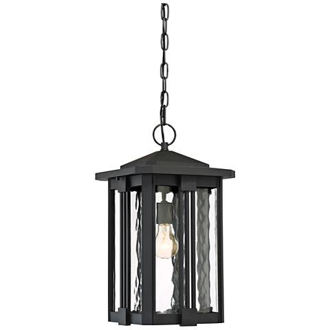 "Quoizel Everglade 19"" Wide Earth Black Outdoor Hanging Light"