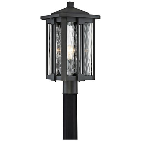 "Quoizel Everglade 20 1/4""W Earth Black Outdoor Post Light"