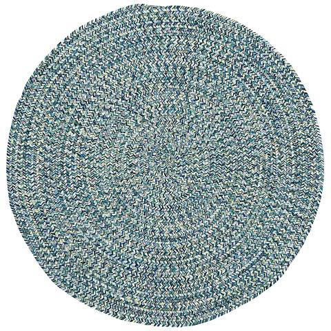 Sea Pottery 0110CS400 Round Blue Outdoor Area Rug