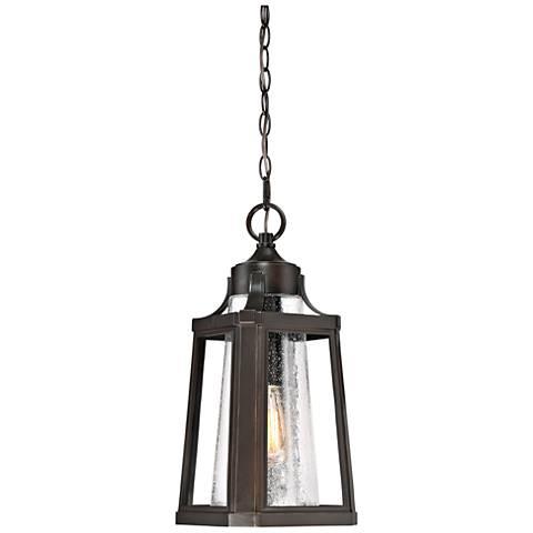 "Quoizel Lighthouse 18 3/4"" High Bronze Outdoor Hanging Light"