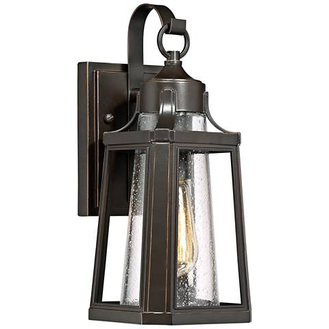 "Quoizel Lighthouse 13 1/4"" High Bronze Outdoor Wall Light"