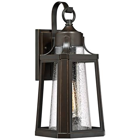 """Quoizel Lighthouse 16 3/4"""" High Bronze Outdoor Wall Light"""