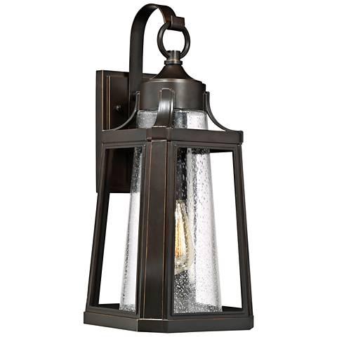 """Quoizel Lighthouse 19 3/4"""" High Bronze Outdoor Wall Light"""