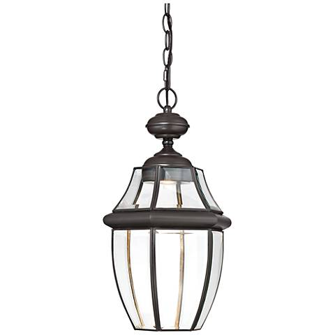 "Quoizel Newbury 19"" High Bronze LED Outdoor Hanging Light"