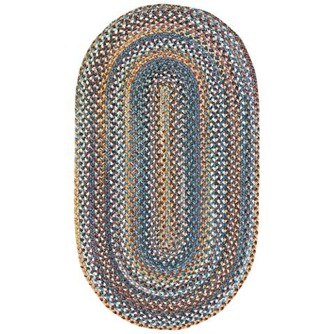 Kill Devil Hill 0210VS450 Oval Medium Blue Area Rug