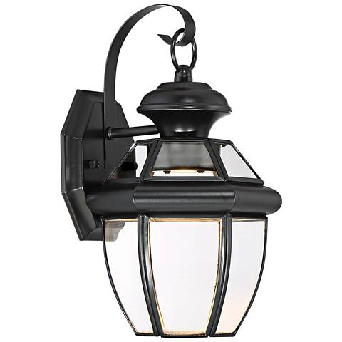 "Quoizel Newbury 12 1/2"" High Black LED Outdoor Wall Light"