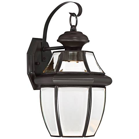 "Quoizel Newberry LED 14"" High Bronze Outdoor Wall Light"