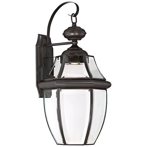 """Quoizel Newberry LED 20"""" High Bronze Outdoor Wall Light"""