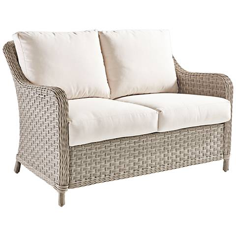 Springfield Pebble Wicker Outdoor Loveseat