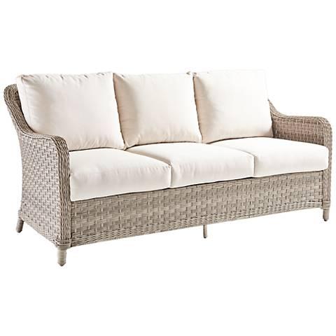 Springfield Pebble Wicker 3-Seat Outdoor Sofa