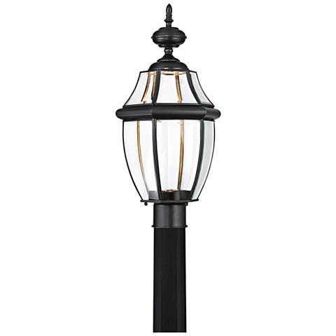 "Quoizel Newberry LED 21 1/2"" Wide Black Outdoor Post Light"