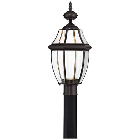 "Quoizel Newberry LED 21 1/2"" Wide Bronze Outdoor Post Light"