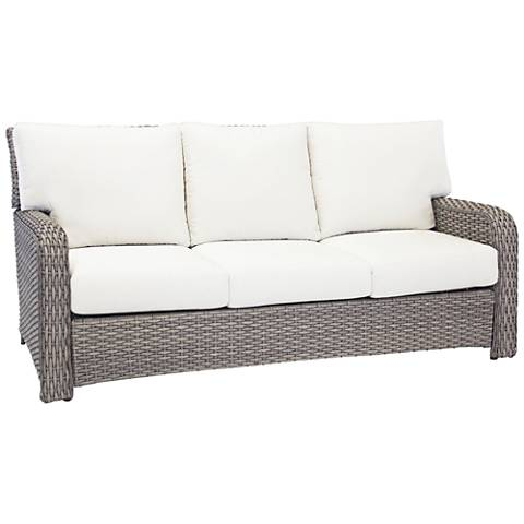 Isla Verde Stone Wicker 3-Seat Outdoor Sofa