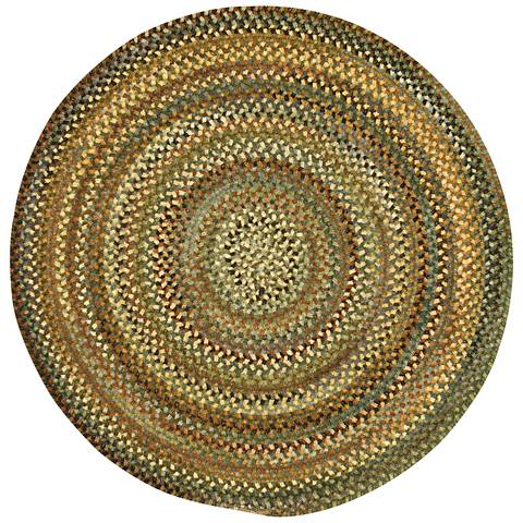 Capel Eaton 0442CS200 Round Green Braided Area Rug