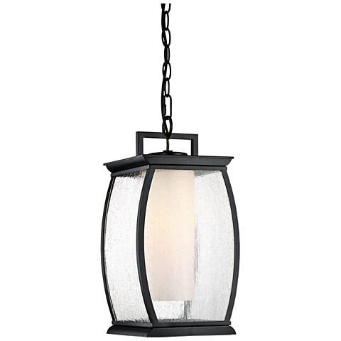 "Quoizel Terrace 17"" High Mystic Black Outdoor Hanging Light"