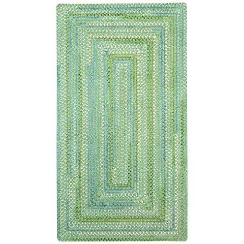 Capel Waterway 0470QS200 Green Braided Area Rug