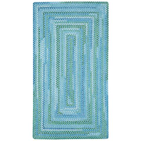 Capel Waterway 0470QS400 Blue Braided Area Rug