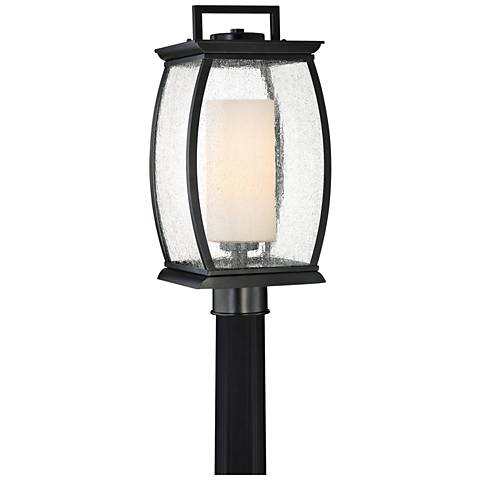 "Quoizel Terrace 17"" High Mystic Black Outdoor Post Light"