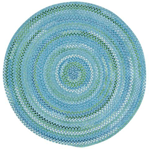 Capel Waterway 0470CS400 Round Blue Braided Area Rug