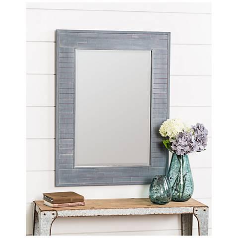 "Cooper Classics Lucie Blue Wash 30"" x 40"" Wall Mirror"
