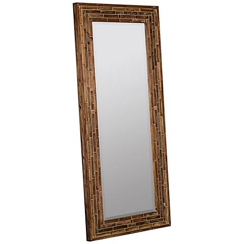 """Crofton Earth Wood 70"""" x 32 1/4"""" Floor Mirror"""
