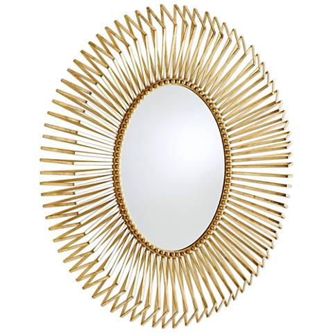 "Andrea Gold Leaf 32"" x 38"" Wall Mirror"