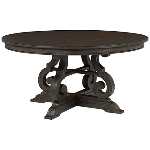 """Bellamy Deep Weathered Pine 60"""" Round Dining Table"""