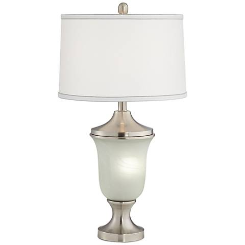 Leanne Alabaster Urn Table Lamp with Night Light