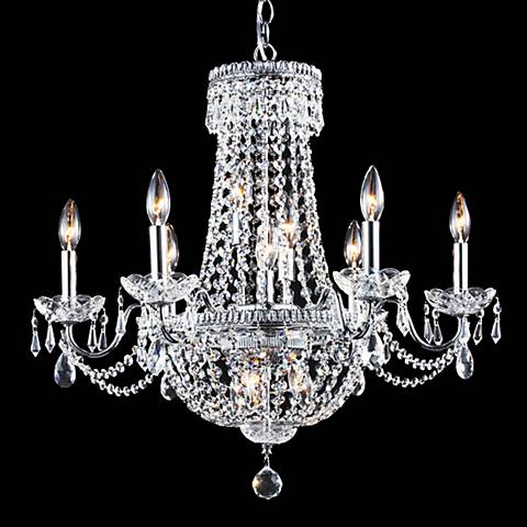 """James Moder Imperial 25""""W Silver 12-Light Empire Chandelier"""