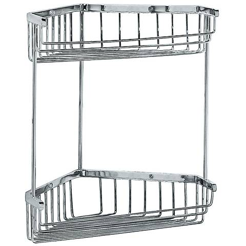"Gatco Trends Chrome 10 1/2"" High Corner Shower Basket"