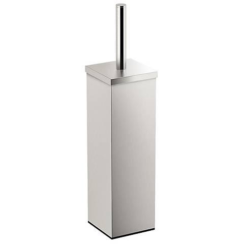 "Gatco Elegant Satin Nickel 14 3/4"" High Toilet Brush Holder"