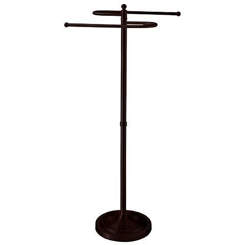 "Gatco Ave Bronze 38""H Floor-Standing S-Style Towel Holder"