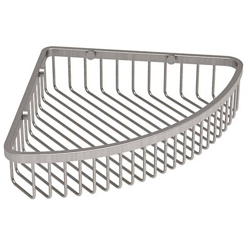 """Gatco Trends Satin Nickel 12"""" Wide Corner Shower Basket"""