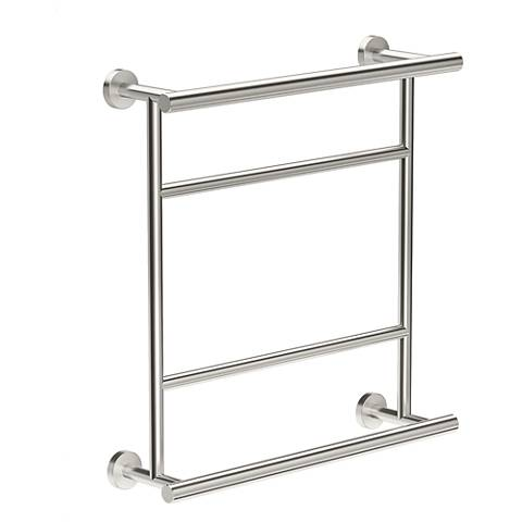 "Gatco Glam Satin Nickel 22"" High Hotel Centre Towel Rack"