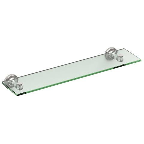 "Gatco Tavern Satin Nickel 20 1/4"" Wide Glass Shelf"
