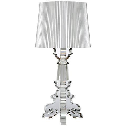 Possini Euro Baroque Silver Accent Table Lamp