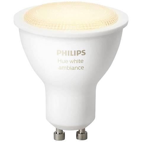 Philips Hue 5.5 Watt White Ambiance GU10 Light Bulb